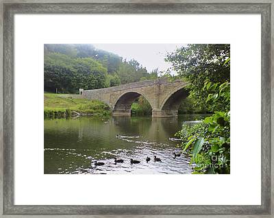 Framed Print featuring the photograph Ludlow Bridge by John Williams