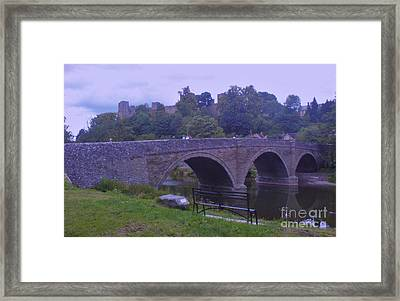 Framed Print featuring the photograph Ludlow Castle by John Williams