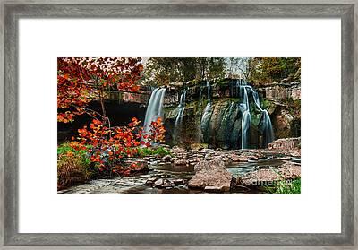 Ludlowville Falls Framed Print