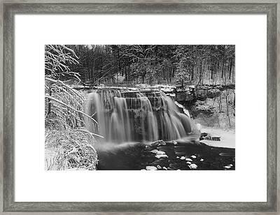 Ludlowville Falls In Winter I Framed Print by Michele Steffey