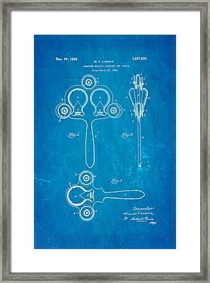Ludwig Castanet Patent Art 1925 Blueprint Framed Print
