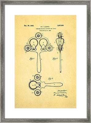 Ludwig Castanet Patent Art 1925  Framed Print