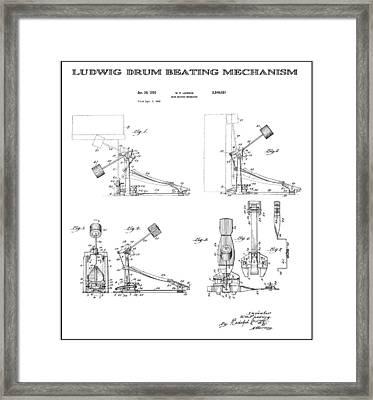 Ludwig Drum Pedal 2 Patent Art 1951 Framed Print