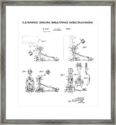 Ludwig Drum Pedal Patent Art 1951 Framed Print