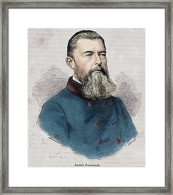 Ludwig Feuerbach (1804-1872 Framed Print by Prisma Archivo