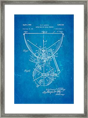 Ludwig Kettle Drum And Timpani Patent Art 1950 Blueprint Framed Print by Ian Monk
