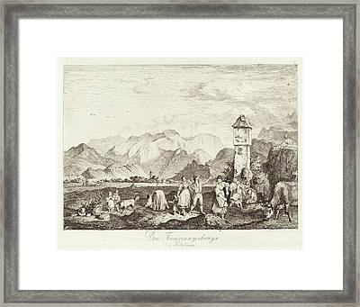 Ludwig Richter German, 1803 - 1884, Das Tännengebirge Bei Framed Print by Quint Lox