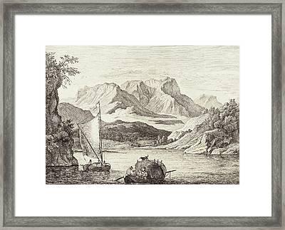 Ludwig Richter German, 1803 - 1884, Der König-see Gegen Framed Print by Quint Lox