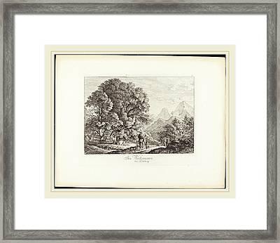 Ludwig Richter German, 1803-1884, Der Watzmann Bei Salzburg Framed Print by Litz Collection