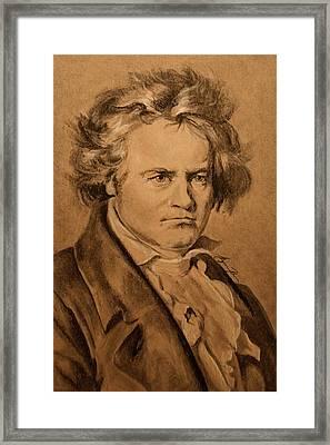 Ludwig Van Beethoven Framed Print by Alyssa Kerr