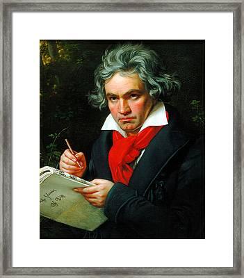 Ludwig Van Beethoven Framed Print by Celestial Images