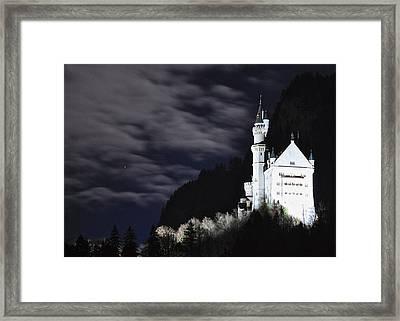 Ludwig's Castle At Night Framed Print by Matt MacMillan