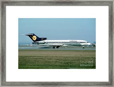 Lufthansa Boeing 727 Framed Print by Wernher Krutein