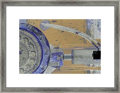 Lug Nut Wheel Left Peach And Purple Framed Print