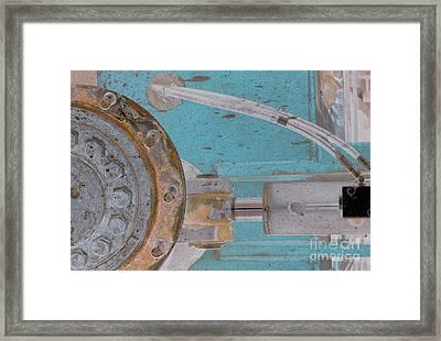 Lug Nut Wheel Left Turquoise And Copper Framed Print