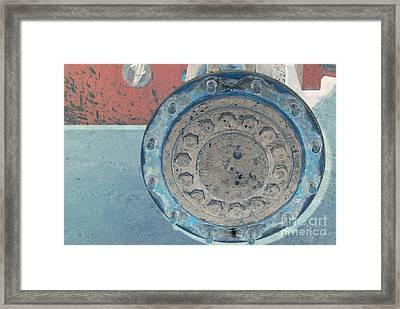 Lug Nut Wheel Right  Framed Print by Heather Kirk