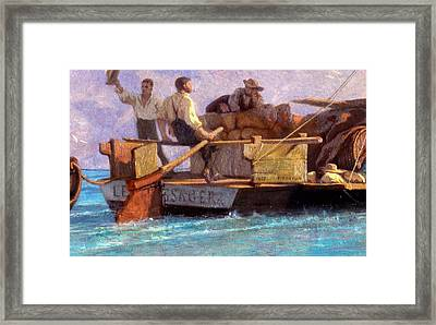 Luggage Boat Framed Print by F.L.D. Bocion