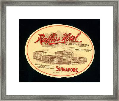 Luggage Label, C1900 Framed Print by Granger