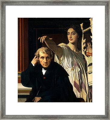 Luigi Cherubini And The Muse Of Lyric Poetry Framed Print