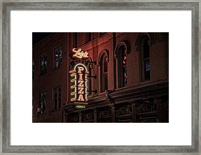 Luigi's Pizza Framed Print by Rick Berk