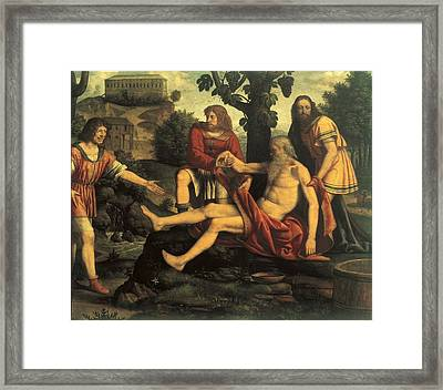 Luini Bernardino, Ham Mocking Noah Framed Print by Everett