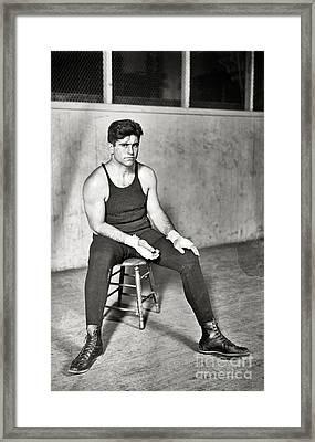 Luis Angel Firpo Framed Print