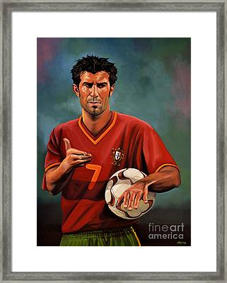 Luis Figo Framed Print by Paul Meijering