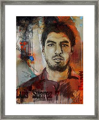 Luis Suarez Framed Print by Corporate Art Task Force