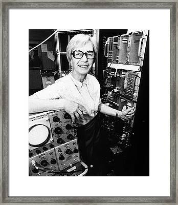 Luise Meyer-schutzmeister Framed Print by Emilio Segre Visual Archives/american Institute Of Physics
