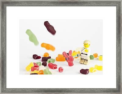 Luke Doesn't Like Jelly Babies Framed Print by Samuel Whitton