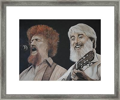 Luke Kelly And Ronnie Drew Framed Print