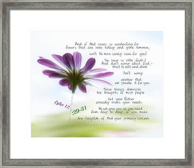 Luke12 By Angelia Clay Framed Print