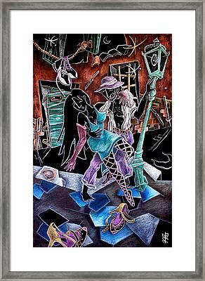 L'ultimo Tango - Artisti Pittori Veneziani Contemporanei Framed Print by Arte Venezia