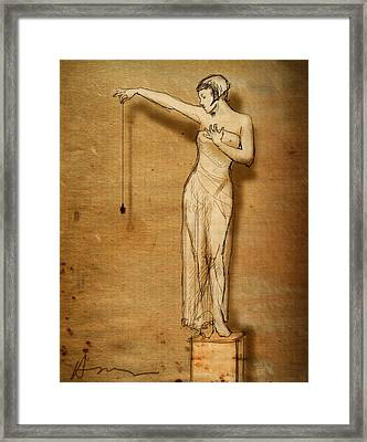 Lulu And The Spider Framed Print