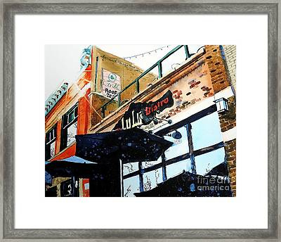 Lulu Asian Bistro Framed Print by Tom Riggs