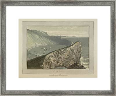 Lulworth Cove Framed Print by British Library