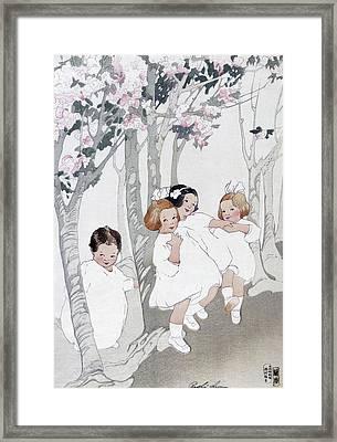 Lum Cherry Trees Framed Print