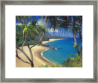 Lumahai Beach Framed Print