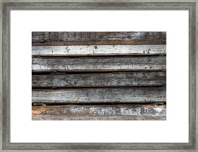 Lumber Framed Print by Jane Linders