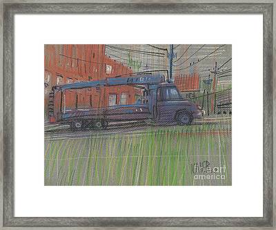 Framed Print featuring the painting Lumber Truck by Donald Maier