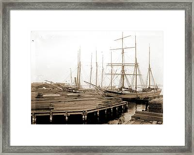 Lumber Wharfs, St Framed Print by Litz Collection