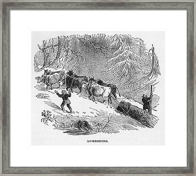 Lumbering - 1878 Framed Print