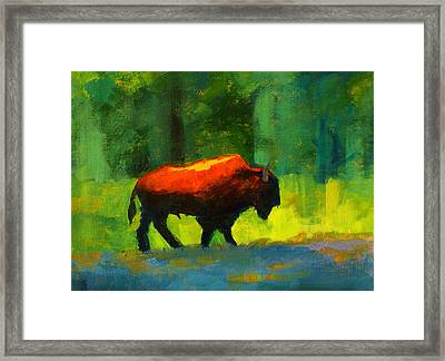 Lumbering Framed Print by Nancy Merkle
