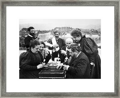 Lumiere Brothers, 1896 Framed Print