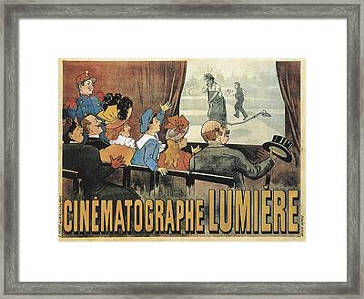 Lumiere, Louis And Auguste. Poster Framed Print by Everett