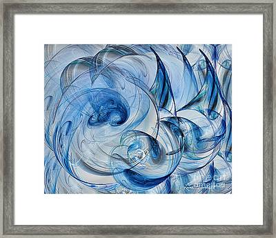 Luminance Washed In Blue Framed Print