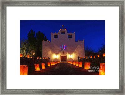 Luminaria Saint Francis De Paula Mission Framed Print by Bob Christopher