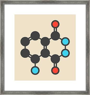 Luminol Chemiluminescent Molecule Framed Print