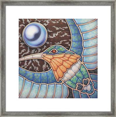 Luminosity - Study In Opal And Pearl Framed Print by Amy S Turner