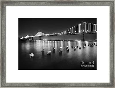 Luminous Bay Bridge  Framed Print by George Oze